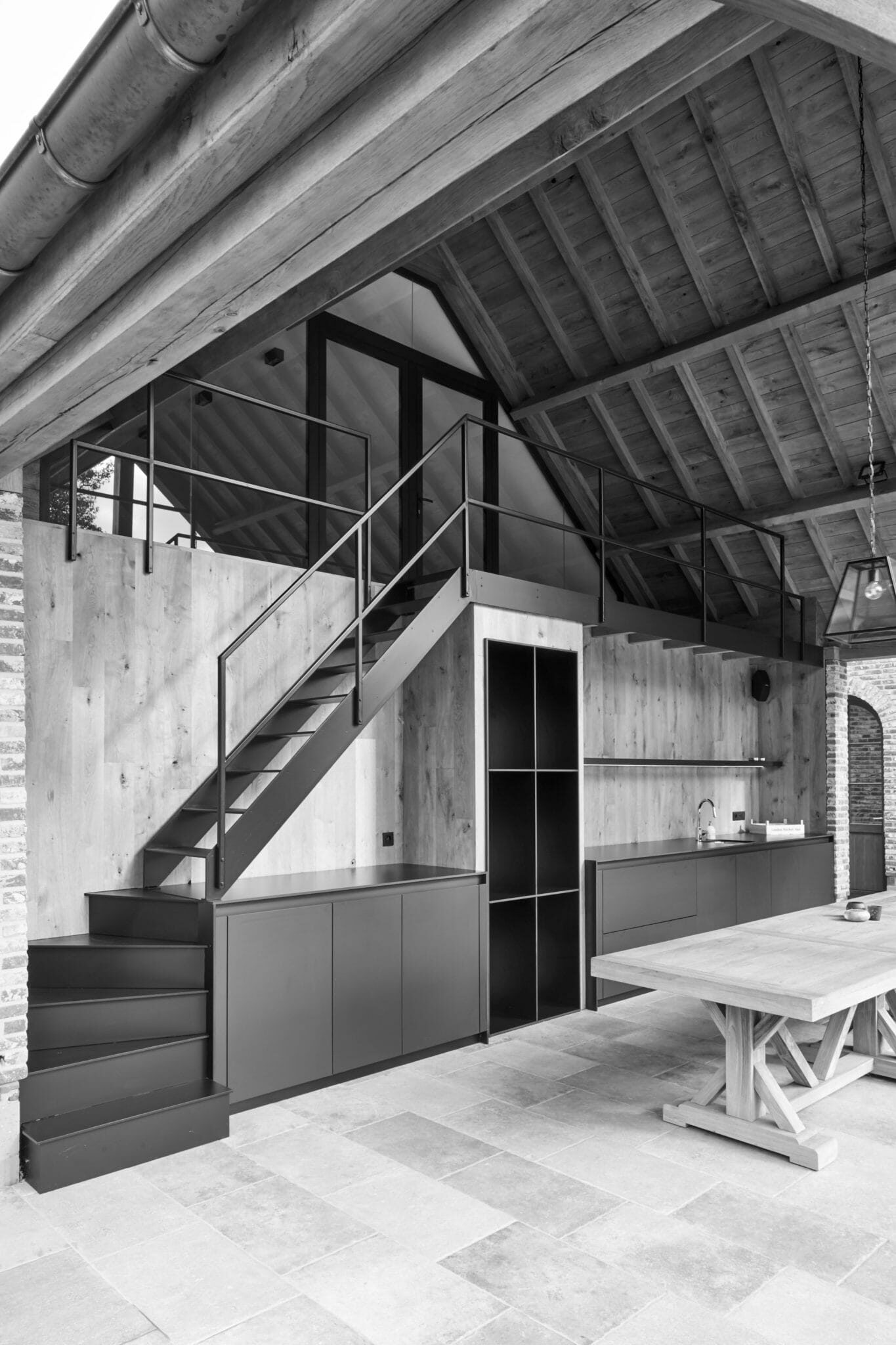 Architect landelijke stijl met hedendaags interieur