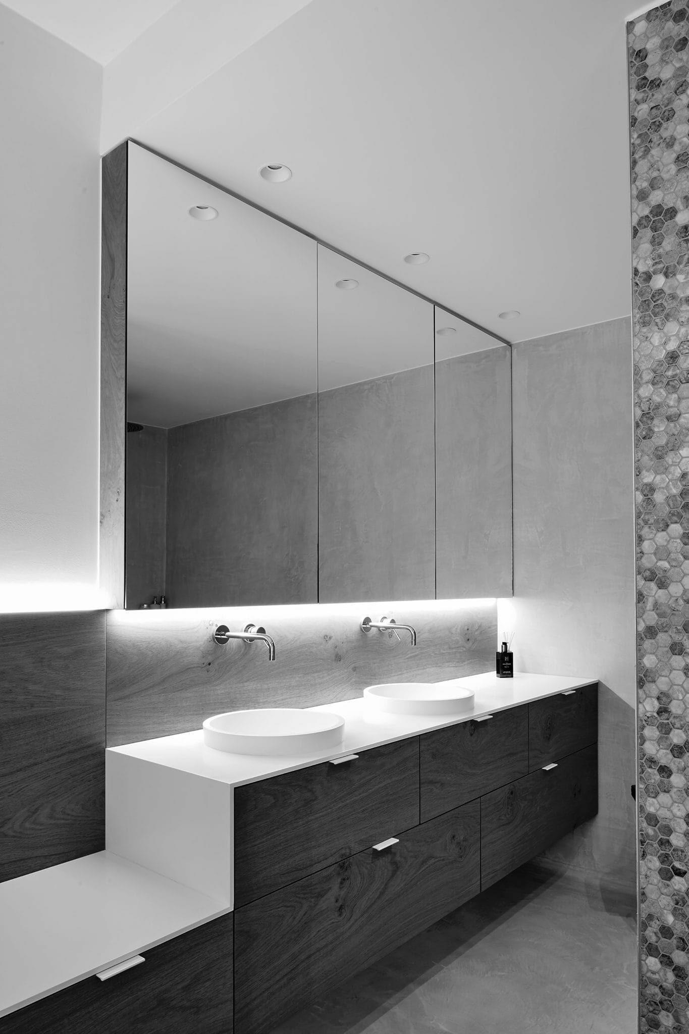 badkamermeubel met dubbele wastafel